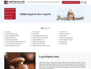 legalhelplineindia.com screenshot