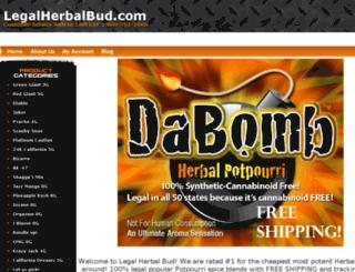 legalherbalbud.com screenshot