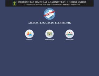 legalisasi.ahu.go.id screenshot