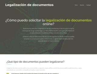 legalizacion-documentos.com screenshot