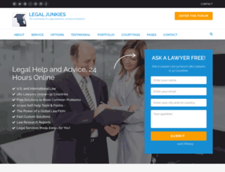 legaljunkies.com screenshot