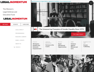 legalmomentum.org screenshot