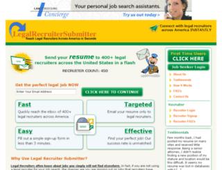 legalrecruitersubmitter.com screenshot