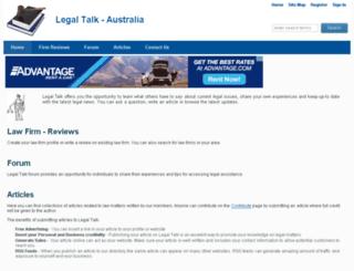 legaltalk.com.au screenshot