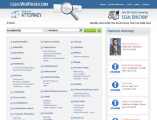legalwebfinder.com screenshot