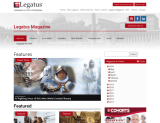 legatusmagazine.org screenshot