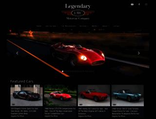 legendarymotorcar.com screenshot