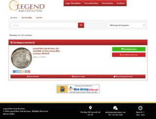 legendauctions.hibid.com screenshot