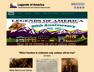 legendsofamerica.com screenshot