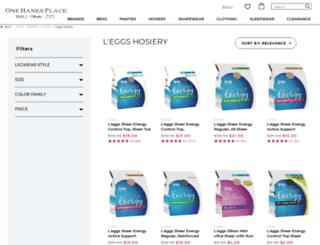 leggs.com screenshot