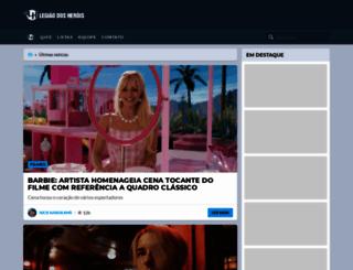legiaodosherois.com.br screenshot
