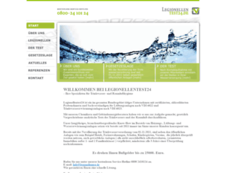 legionellentest24.de screenshot