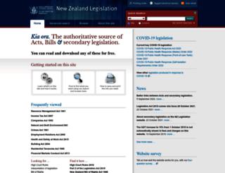 legislation.govt.nz screenshot