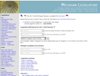legislature.mi.gov screenshot