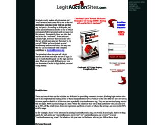 legitauctionsites.com screenshot