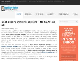 legitbinarybrokers.com screenshot