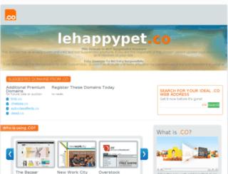 lehappypet.co screenshot