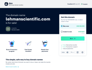 lehmanscientific.com screenshot