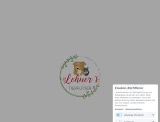 lehners-tierfutter.de screenshot