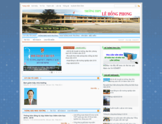 lehongphongdilinh.edu.vn screenshot
