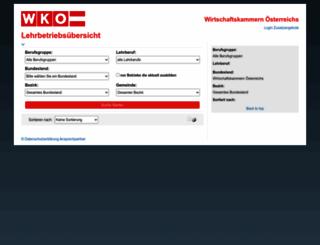 lehrbetriebsuebersicht.wko.at screenshot