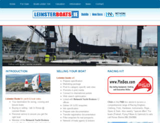 leinsterboats.ie screenshot