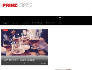 leipzig.prinz.de screenshot