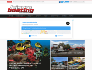 leisureboating.co.za screenshot
