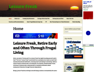 leisurefreak.com screenshot