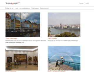 leisureguide.info screenshot