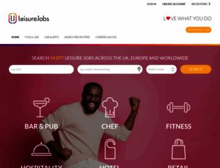 leisurejobs.com screenshot