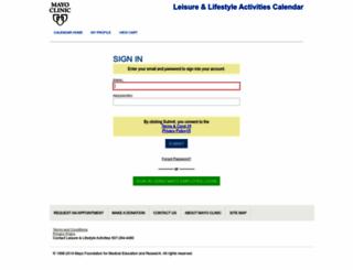 leisurelifestyleactivities.mayo.edu screenshot