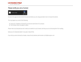 leisurepro.com screenshot