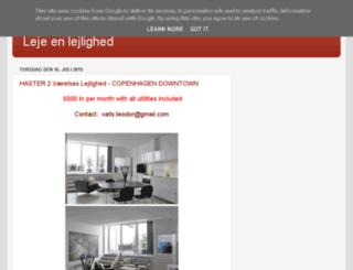 leje-en-lejlighed.blogspot.dk screenshot
