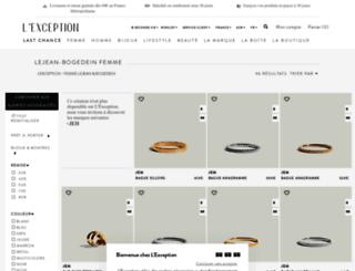 lejean-bogedein.lexception.com screenshot