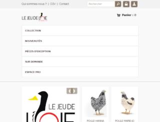 lejeudeloie-biarritz.com screenshot