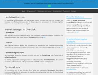 lektorat-seitenumbruch.de screenshot