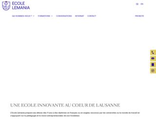 lemania.ch screenshot