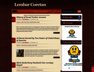 lembar-coretan.blogspot.com screenshot