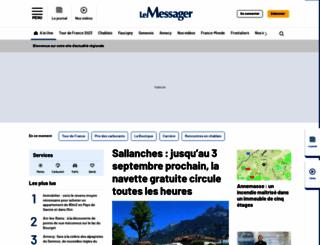 lemessager.fr screenshot