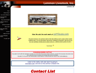 lemmonlivestock.com screenshot