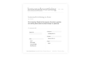 lemonadevertising.com screenshot