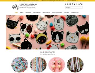 lemoncatshop.com screenshot