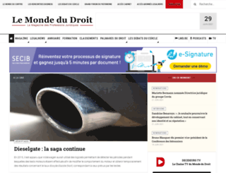 lemondedudroit.fr screenshot