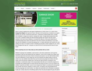 lemongrovecagaragedoorrepair.com screenshot
