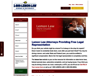 lemonlaw.com screenshot