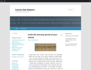 lemonlawlawyers.edublogs.org screenshot