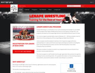 lenapejrwrestling.com screenshot