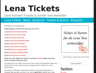 lenatickets.de screenshot