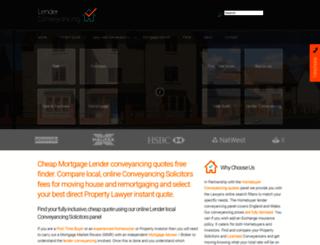 lenderconveyancing.com screenshot